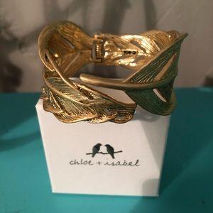 Chloe + Isabel Sculpted Feather Hinge Bracelet